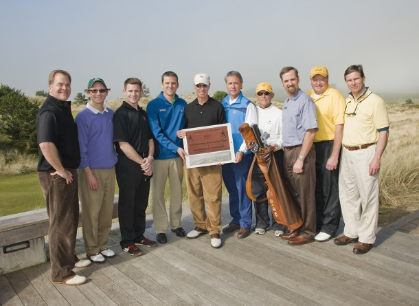 The 2009 Walking Golfer of the Year Presentation at Bandon Dunes Golf Resort